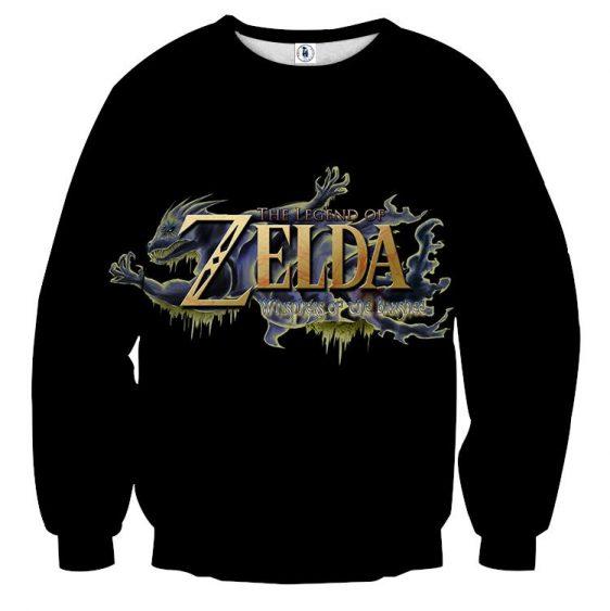 The Legend Of Zelda Stunning Mythtic Symbol Black Sweater