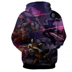 Guardians of the Galaxy Team Fighting Anime Theme 3D Hoodie - Superheroes Gears