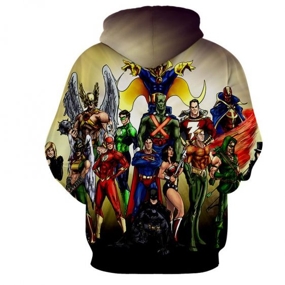 Justice League DC Superheroes All Characters Cool Hoodie - Superheroes Gears