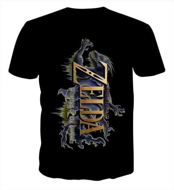 The Legend Of Zelda Stunning Mythtic Symbol Black T-shirt
