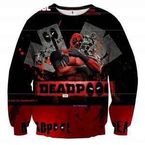 Deadpool The Winner Style Funny Design Full Print Sweatshirt - Superheroes Gears