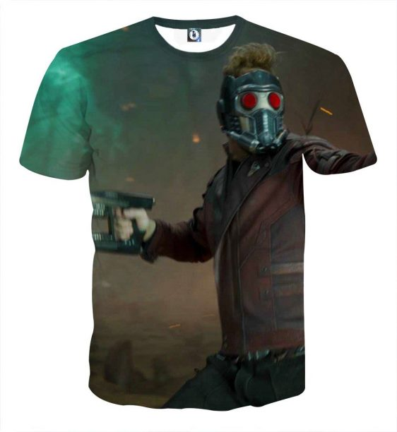 Guardians of the Galaxy Star-Lord Fighting Scene Dope T-shirt - Superheroes Gears