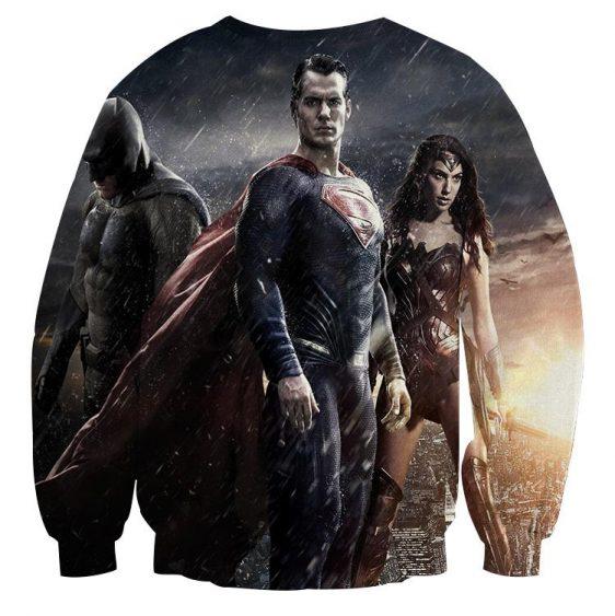 Batman VS Superman Dawn Of Justice Trinity 3D Print Sweatshirt - Superheroes Gears