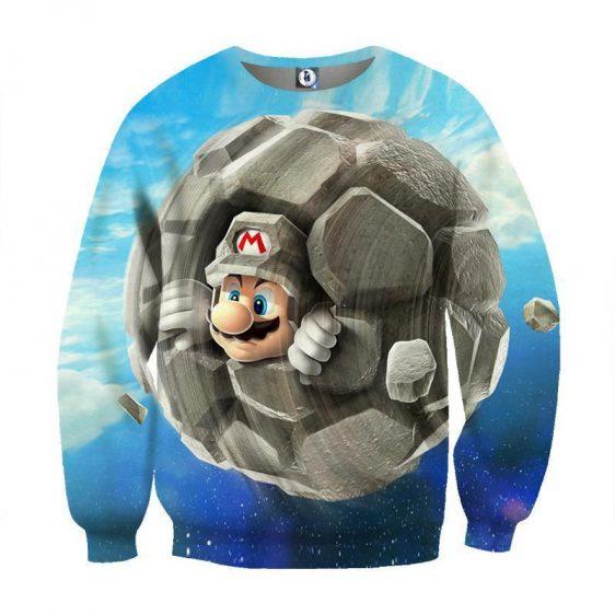 Super Mario Rock Mushroom Upgrade Cool Gaming Sweatshirt