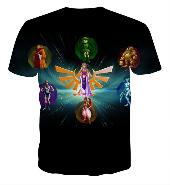 The Legend Of Zelda Perfect Colourful The Characters T-shirt