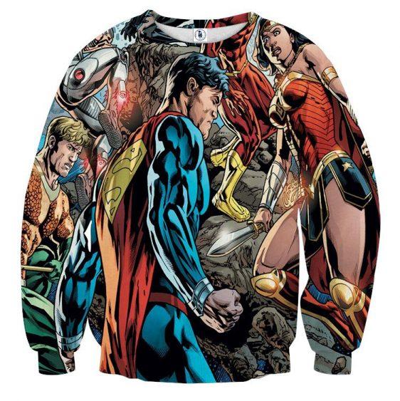 Justice League Comic Superman Dope Stand 3D Printed Sweatshirt - Superheroes Gears