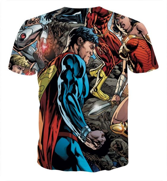 Justice League Comic Superman Dope Stand 3D Printed T-Shirt - Superheroes Gears