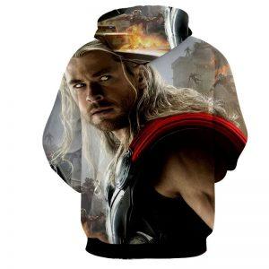 Marvel The Avengers Thor Portrait Unique 3D Print Hoodie - Superheroes Gears