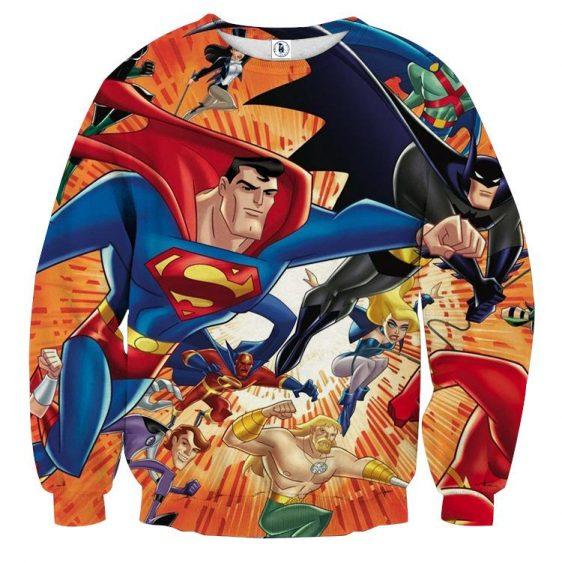 Justice League DC Awesome Superheroes Team 3D Printed Sweatshirt - Superheroes Gears