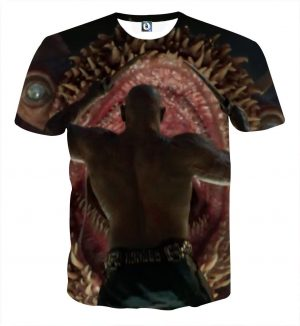 Guardians of the Galaxy Drax Fighting Monster Full Print T-shirt - Superheroes Gears