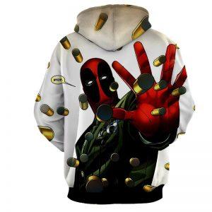 Deadpool Stopping Bullets Dope Design Full Print Hoodie - Superheroes Gears