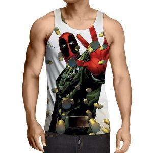 Deadpool Stopping Bullets Dope Design Full Print Tank Top - Superheroes Gears