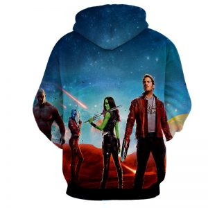 Guardians of the Galaxy Part 2 Team Poster Vibrant 3D Hoodie - Superheroes Gears