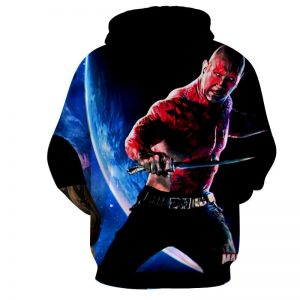 Guardians of the Galaxy Drax Powerful Warrior Dope 3D Hoodie - Superheroes Gears