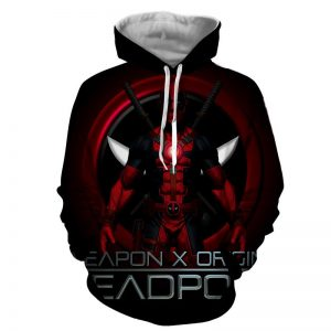Deadpool Weapon X Origins Symbol Fashionable Full Print Hoodie - Superheroes Gears