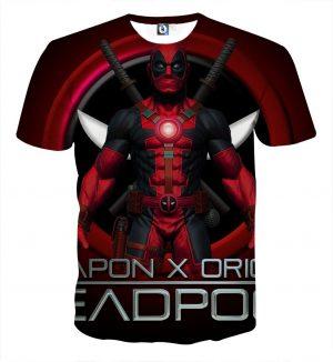 Deadpool Weapon X Origins Symbol Fashionable Full Print T-shirt - Superheroes Gears