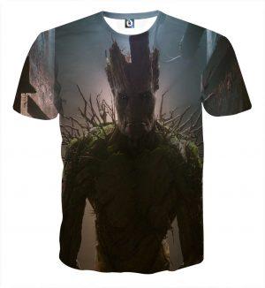 Guardians of the Galaxy Powerful Groot Stunning Design 3D T-shirt - Superheroes Gears