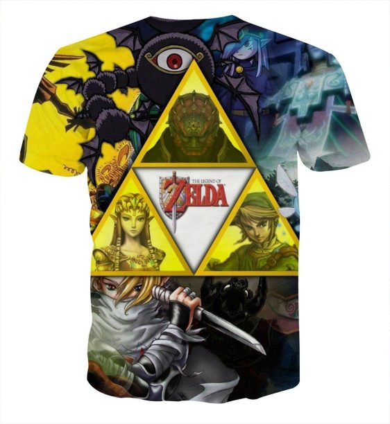 The Legend Of Zelda Link Princess Zelda And Ganon T-shirt