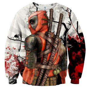 Deadpool The Back Portrait Amazing Fan Art Full Print Sweatshirt - Superheroes Gears