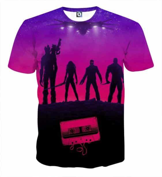 Guardians of the Galaxy Team Portrait Vibrant 3D Full Print T-shirt - Superheroes Gears