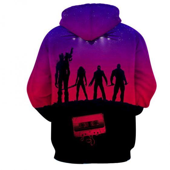 Guardians of the Galaxy Team Portrait Vibrant 3D Full Print Hoodie - Superheroes Gears