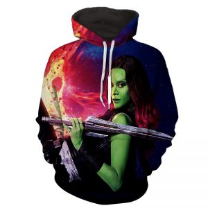 Guardians of the Galaxy Gamora Portrait Dope 3D Design Hoodie - Superheroes Gears