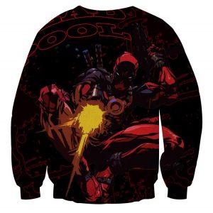 Antihero Deadpool Shooting With Gun Cool Style Print Sweatshirt - Superheroes Gears