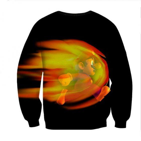 Super Mario Nintendo Fire Dash Simple Urban Wear Sweatshirt
