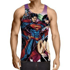 Justice League DC Comics Heroes Dope Team Cool Tank Top - Superheroes Gears