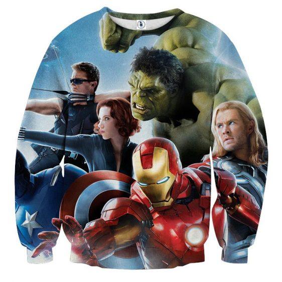 Marvel The Avengers Ready To Fight Dope Full Print Sweatshirt
