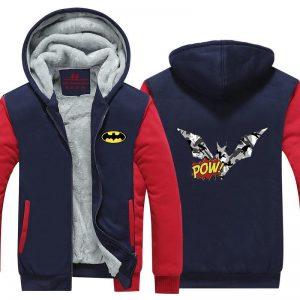Batman B&W Symbol Pow Camouflage Pattern Hooded Jacket - Superheroes Gears