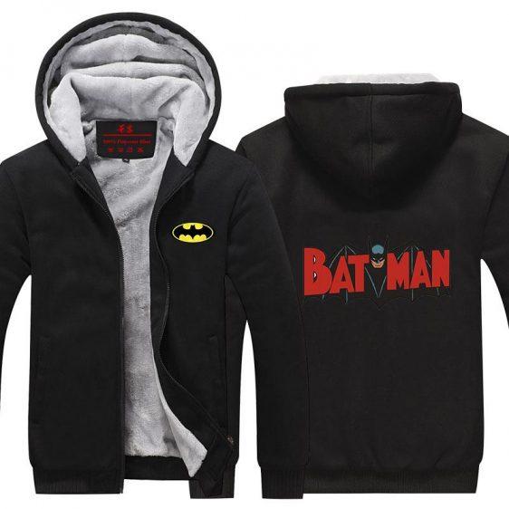 Batman Middle Red Logo Impressive Style Hooded Jacket - Superheroes Gears