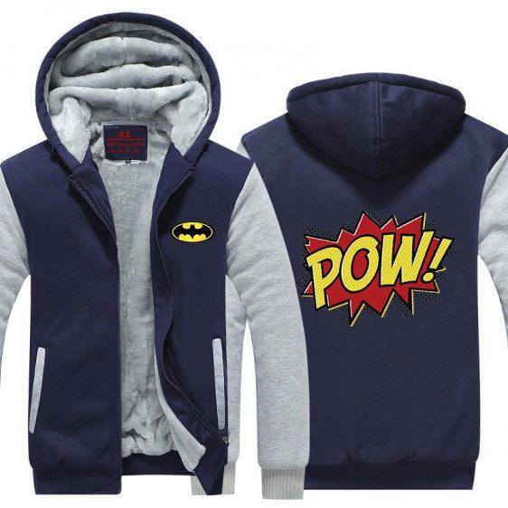 Batman Nice Pow Symbol Vintage Classic Style Hooded Jacket - Superheroes Gears