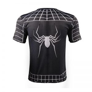 Black Spiderman Amazing Full Print Symbiote Costume Design T-shirt - Superheroes Gears