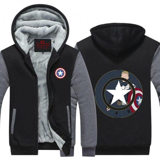 Captain America Civil War Cartoon Style Design Hooded Jacket - Superheroes Gears