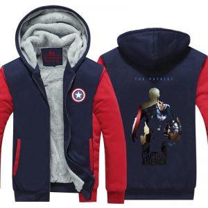 Captain America Civil War Fan Art Vibrant Hooded Jacket - Superheroes Gears