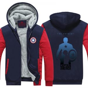 Captain America Creative Shadow Symbol Cool Hooded Jacket - Superheroes Gears