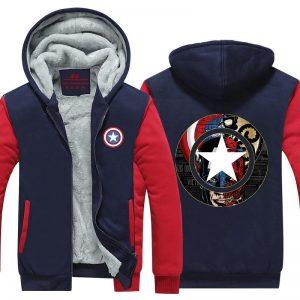 Captain America Crossing Hydra Red Skull 3D Hooded Jacket - Superheroes Gears