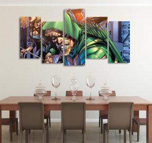 DC Comics Green Arrow Dressed Like Robin Hood 5pcs Canvas