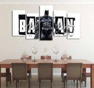 DC Cool Batman Pose Black & White Banner 5pcs Canvas Print