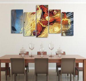 DC Flash The Fastest Speedster 5pcs Wall Art Canvas Print