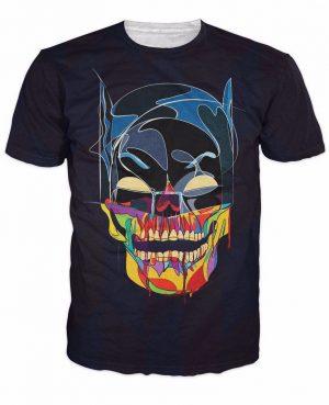 DC Hero Batman Skull Creative Design Super Hero Theme T-Shirt - Superheroes Gears