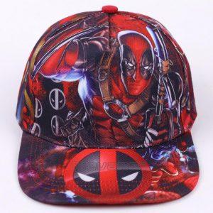 Deadpool Symbol All Style In Red Funky Snapback Baseball Cap - Superheroes Gears