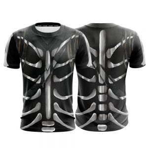 Fortnite Battle Royale Skull Trooper Skin Cosplay T-shirt - Superheroes Gears