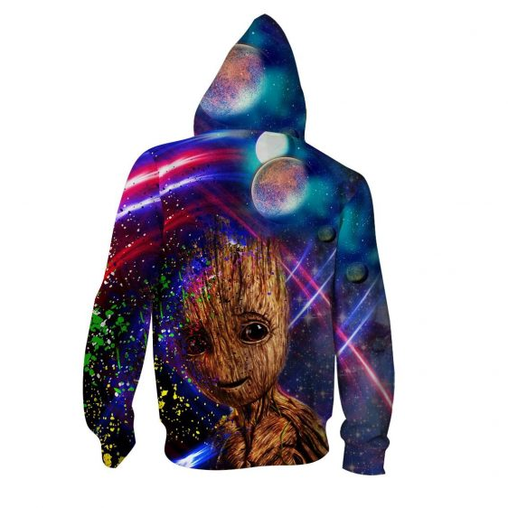 Guardians Of The Galaxy Sweet Groot Colorful Vibrant Hoodie
