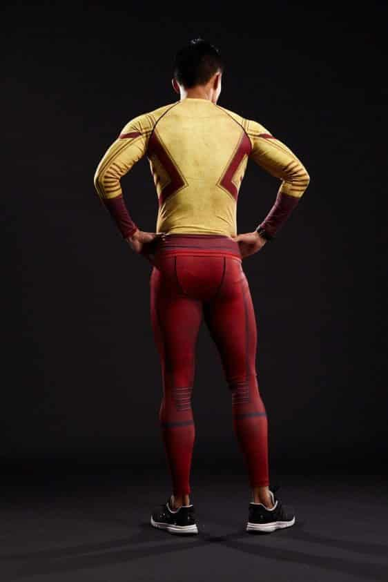 DC The Flash Cool Pattern 3D Printed Compression Tight Gym Leggings - Superheroes Gears