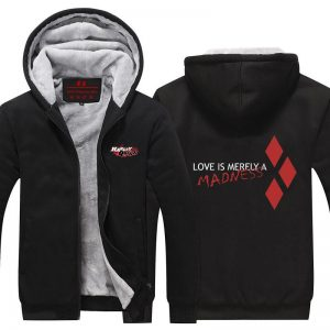Harley Quinn Love Quote Simple Design Print Hooded Jacket - Superheroes Gears