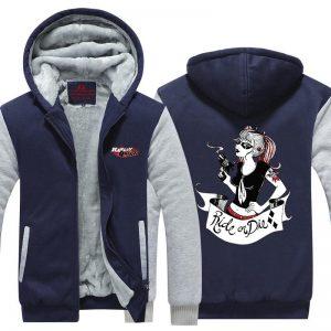 Harley Quinn Ride or Die Awesome Style 3D Hooded Jacket - Superheroes Gears