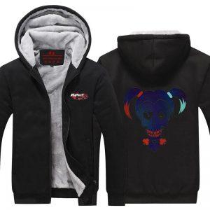 Harley Quinn Skull Symbol Cool 3D Print Hooded Jacket - Superheroes Gears