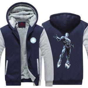 Iron Man Avengers Endo Sym Armor Silver Nice Hooded Jacket - Superheroes Gears